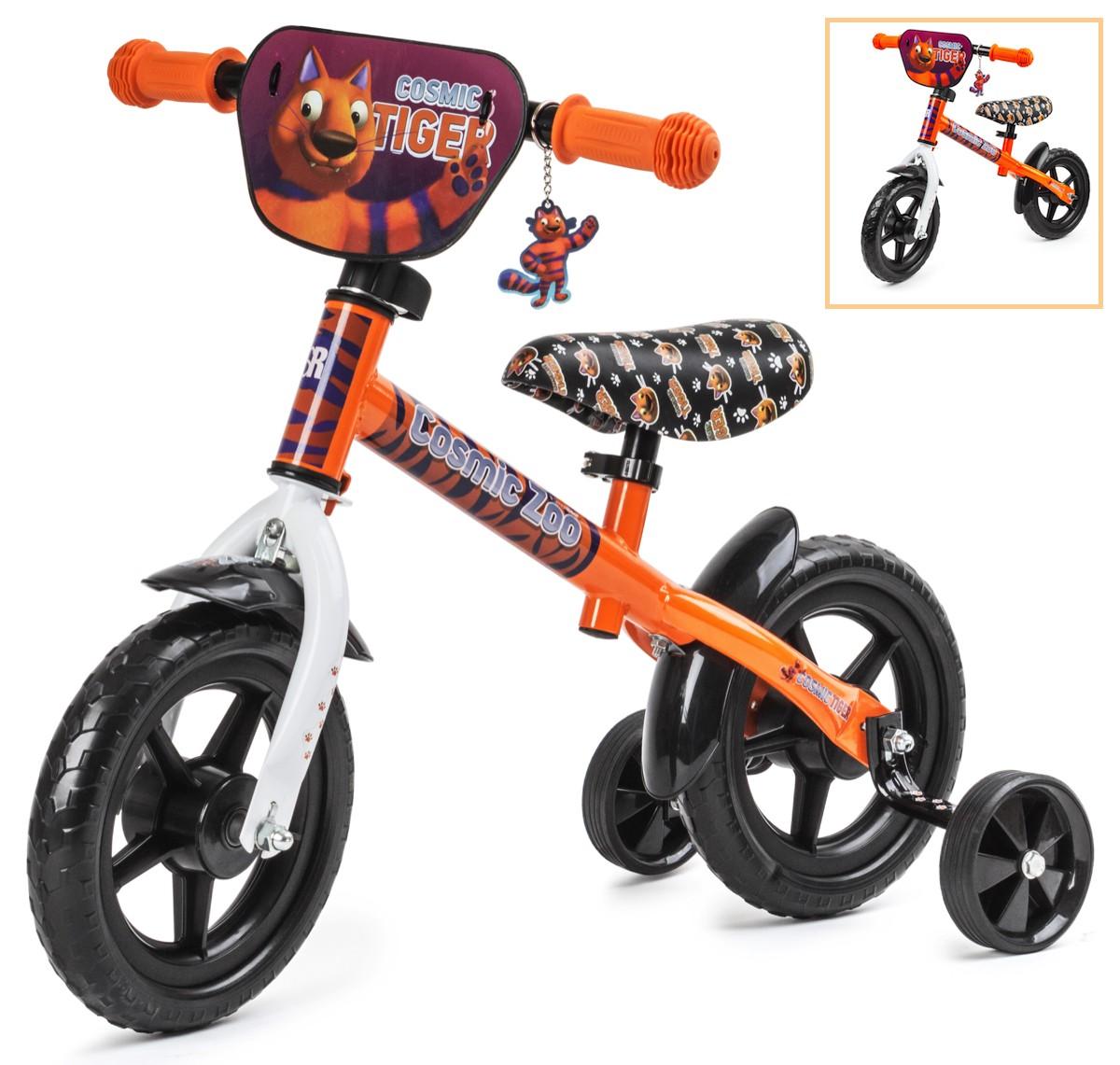 Беговел для малышей 2 в 1 с доп.колесиками Cosmic Zoo Ballance (Космический зоопарк)