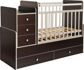 Детская кроватка Фея 1100 венге кромка бежевый