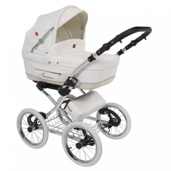 Детская коляска Tutek Turran ECO Leatherette 2 в 1 ( WHITE )