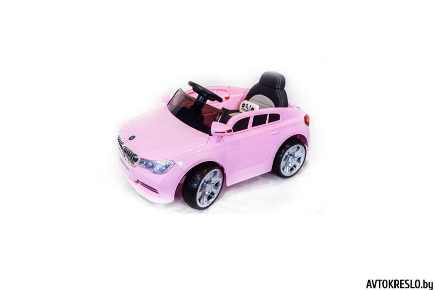 Детский электромобиль Wingo BMW 5-series LUX розовый