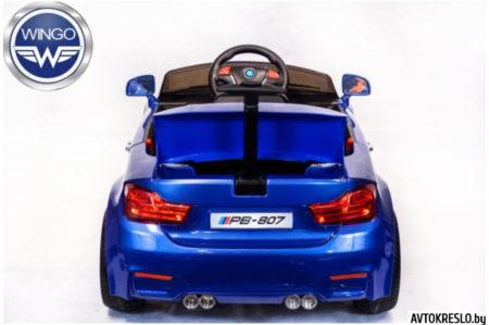 Детский электромобиль Wingo BMW M4 LUX синий лак