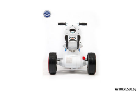 Детский электромобиль-мотоцикл Wingo MOTO Y LUX белый глянец