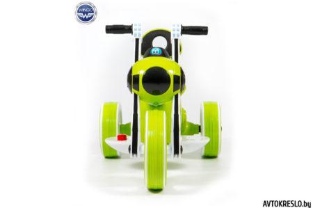 Детский электромобиль-мотоцикл Wingo MOTO Y LUX зеленый глянец