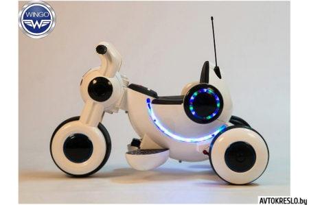 Детский электромобиль-мотоцикл Wingo MOTO Z LUX белый глянец