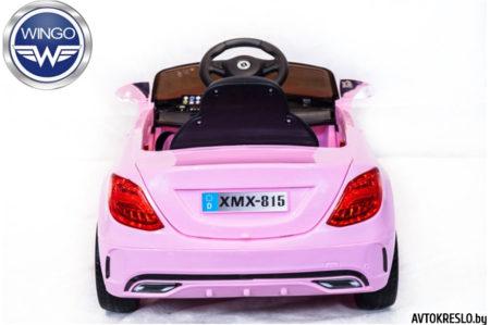 Детский электромобиль Wingo MERCEDES С-Class LUX розовый