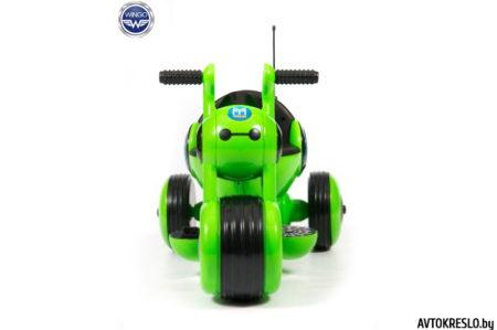 Детский электромобиль-мотоцикл Wingo MOTO Z LUX зеленый глянец