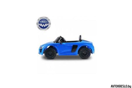 Детский электромобиль WINGO AUDI R8 spider LUX (Лицензионная модель) голубой