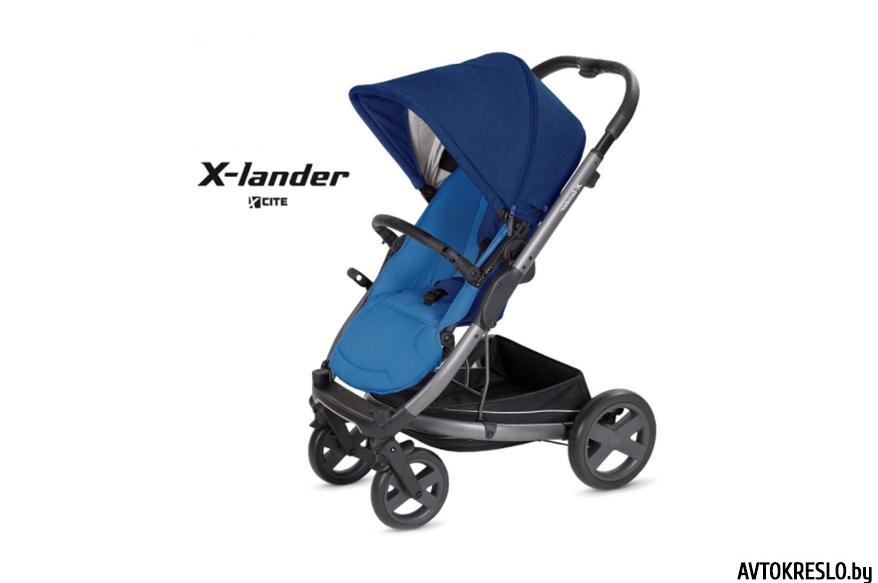 Прогулочная коляска X-LANDER X-CITE 2 в 1 (night blue/синий)